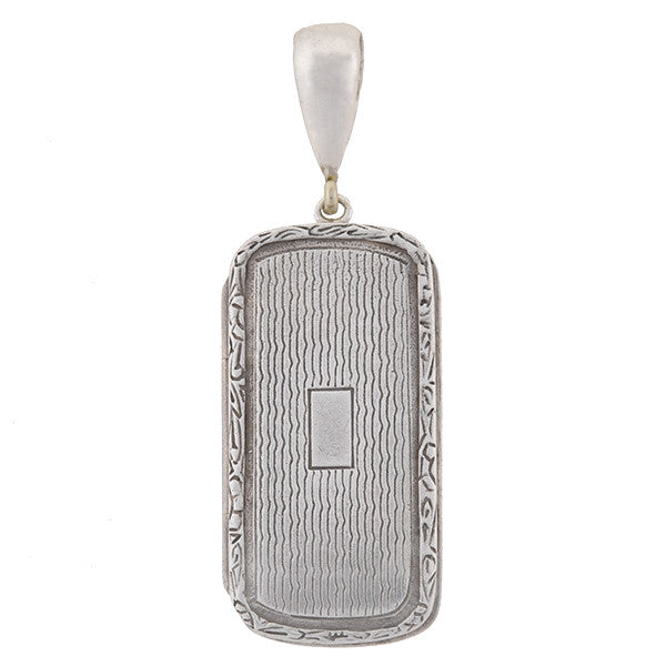 Art Deco Sterling Silver Pill Box Locket