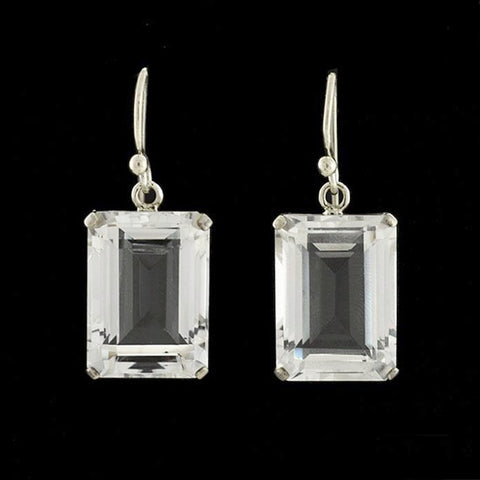 Art Deco Platinum Diamond & Pearl Earrings