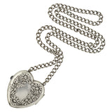 Art Nouveau Sterling Repousse Heart Coin Holder Locket
