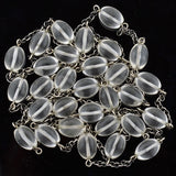 Vintage Sterling & Rock Quartz Crystal Chain Necklace 51