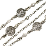 Victorian Sterling Silver Roman Coin Chain Necklace 55