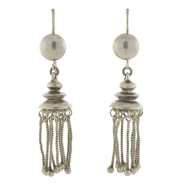Victorian Sterling Silver Tassel Earrings