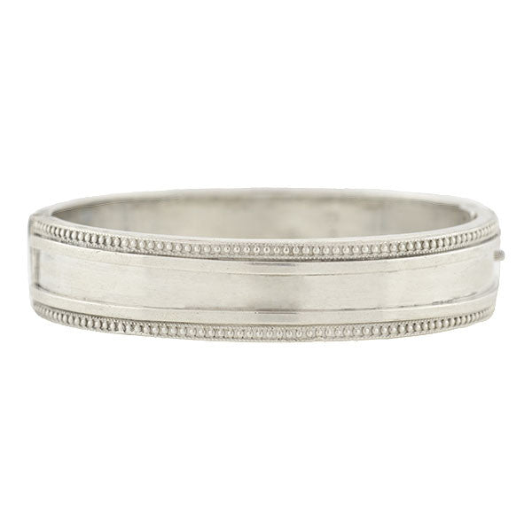 Victorian English Sterling Silver Bangle Bracelet