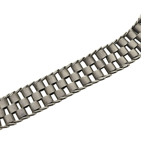 "Victorian Sterling Silver ""Tire Track"" Book Chain 17.5"""