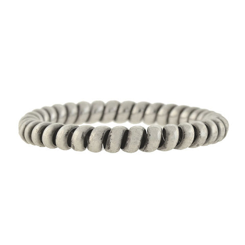 ANTON MICHELSEN Vintage Scandinavian Silver Coiled Bangle Bracelet