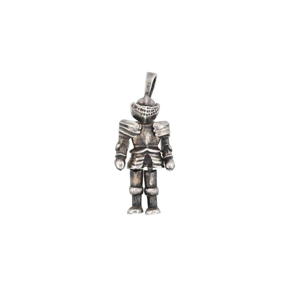 "Vintage Sterling ""Knight in Shining Armor"" Moveable Charm"