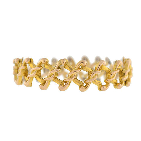 "Late Victorian 9kt Gold Fully Expandable ""Baby"" Bracelet"