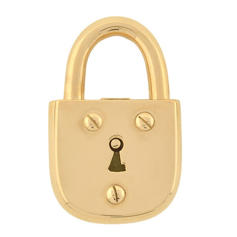 TIFFANY & CO. Estate Heavy 18kt Gold Padlock Pendant