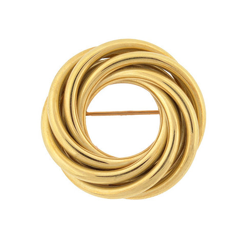 TIFFANY & CO. Retro 14kt Yellow Gold Love Knot Pin