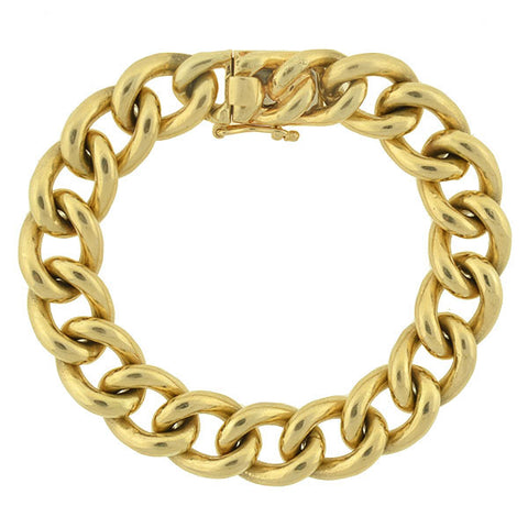 TIFFANY & CO. Heavy 14kt Cuban Link Bracelet 50 dwt