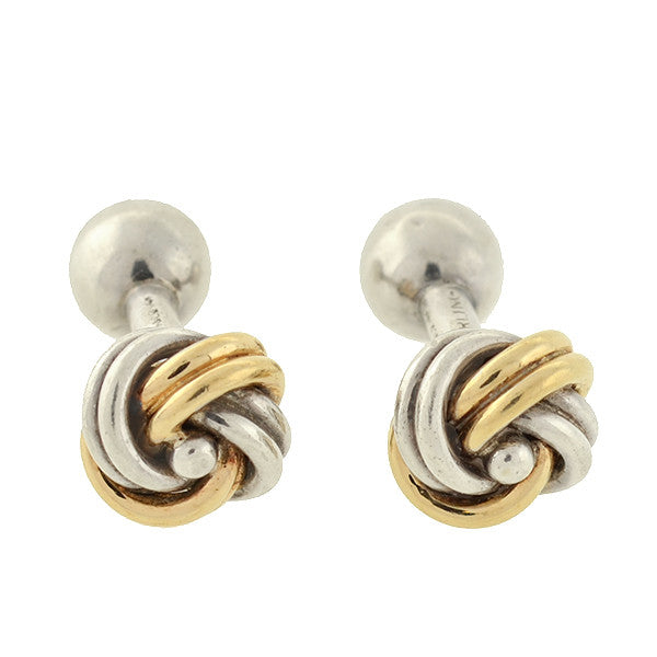 TIFFANY & CO. Vintage Sterling/14kt Love Knot Cufflinks