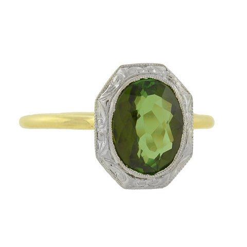 TIFFANY & CO. Edwardian Mixed Metals Tourmaline Conversion Ring