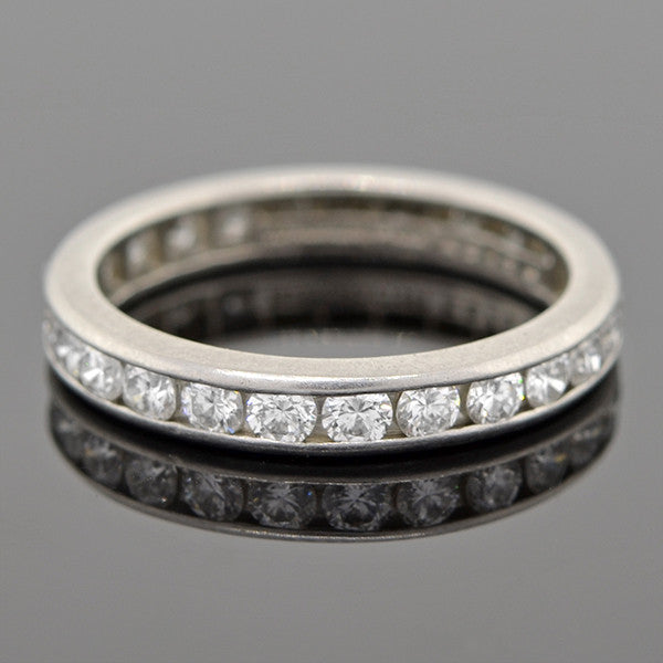TIFFANY & CO. Platinum & Diamond 1ctw Eternity Band