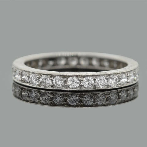TIFFANY & CO. Vintage Platinum Diamond Eternity Band .50ctw