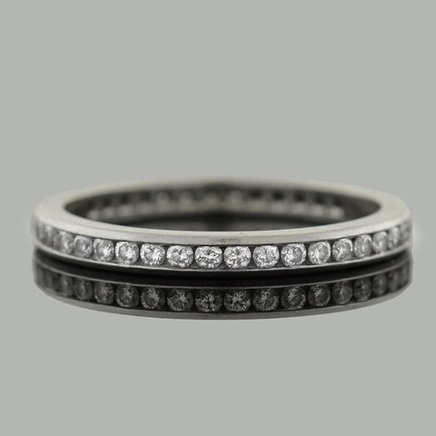 TIFFANY & CO. Estate Platinum Diamond Eternity Band