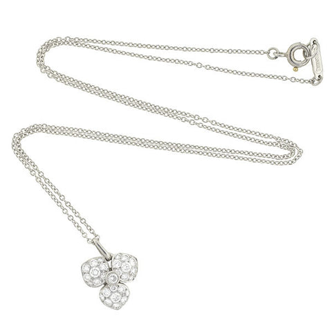TIFFANY & CO. France Estate Platinum Diamond Necklace