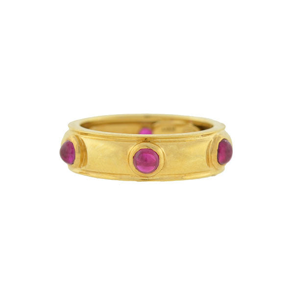 TIFFANY & CO. Estate 18kt Ruby Cabochon Band