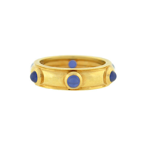 TIFFANY & CO. Estate 18kt Sapphire Cabochon Band