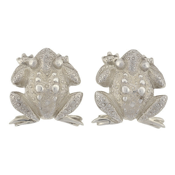TIFFANY & CO. Estate Sterling Silver Frog Clip Earrings