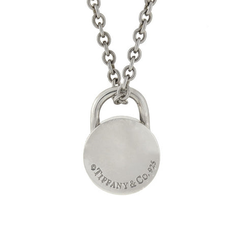 TIFFANY & CO. Estate Sterling Padlock Charm & Chain