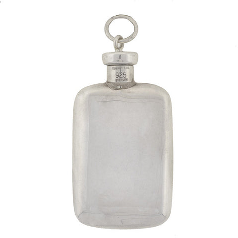 TIFFANY & CO. Estate Sterling Perfume Bottle Pendant
