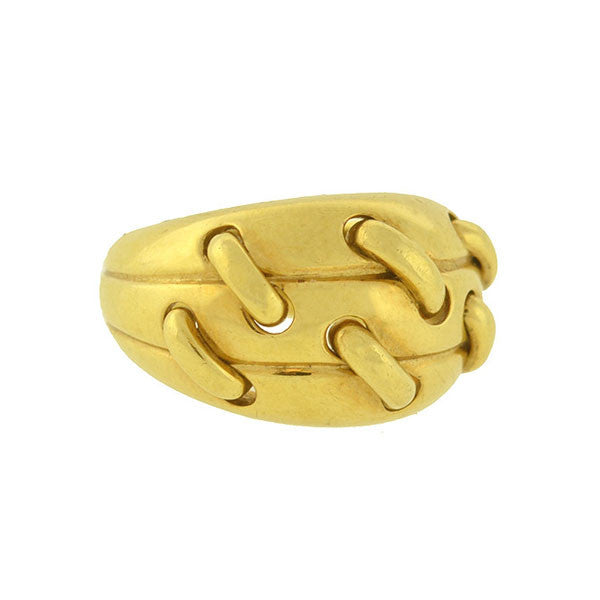 "TIFFANY & CO. Vintage 18kt Gold ""Stitched"" Ring"