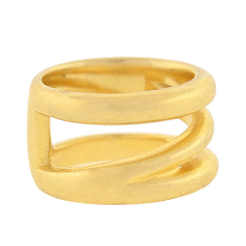 "TIFFANY & CO Estate 18kt Gold Zig Zag ""Z"" Ring"