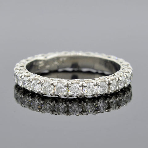 Estate Tacori Style Platinum Diamond Band Ring 1.95ctw