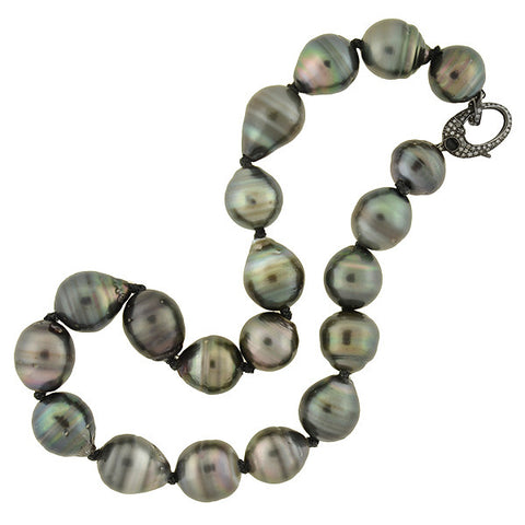 Art Deco Chinese 18kt Jadeite Beaded Necklace 25""