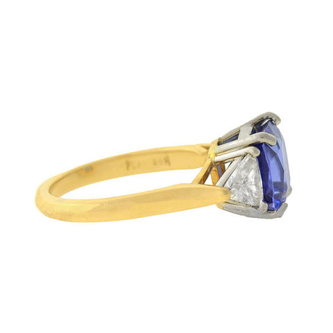 Estate 18kt/Platinum Tanzanite & Diamond Ring 4.00ct