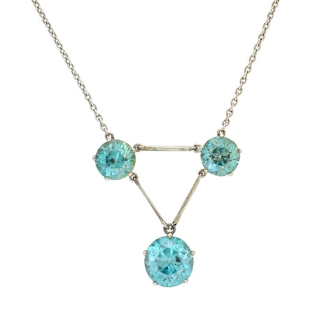 Gorgeous Sterling Silver /& Turquoise Three Stone Filigree Pendant