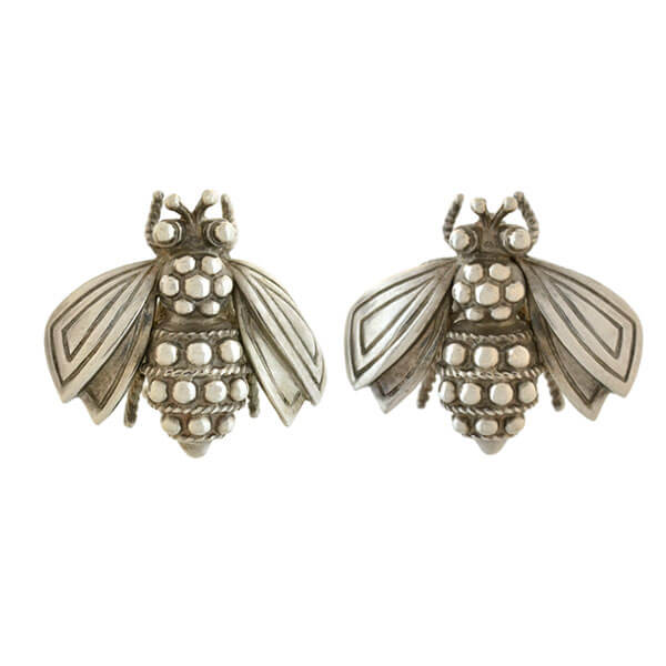 2e0d69b71ada3 TIFFANY & CO. Estate Sterling Silver Bumble Bee Earrings – A. Brandt ...