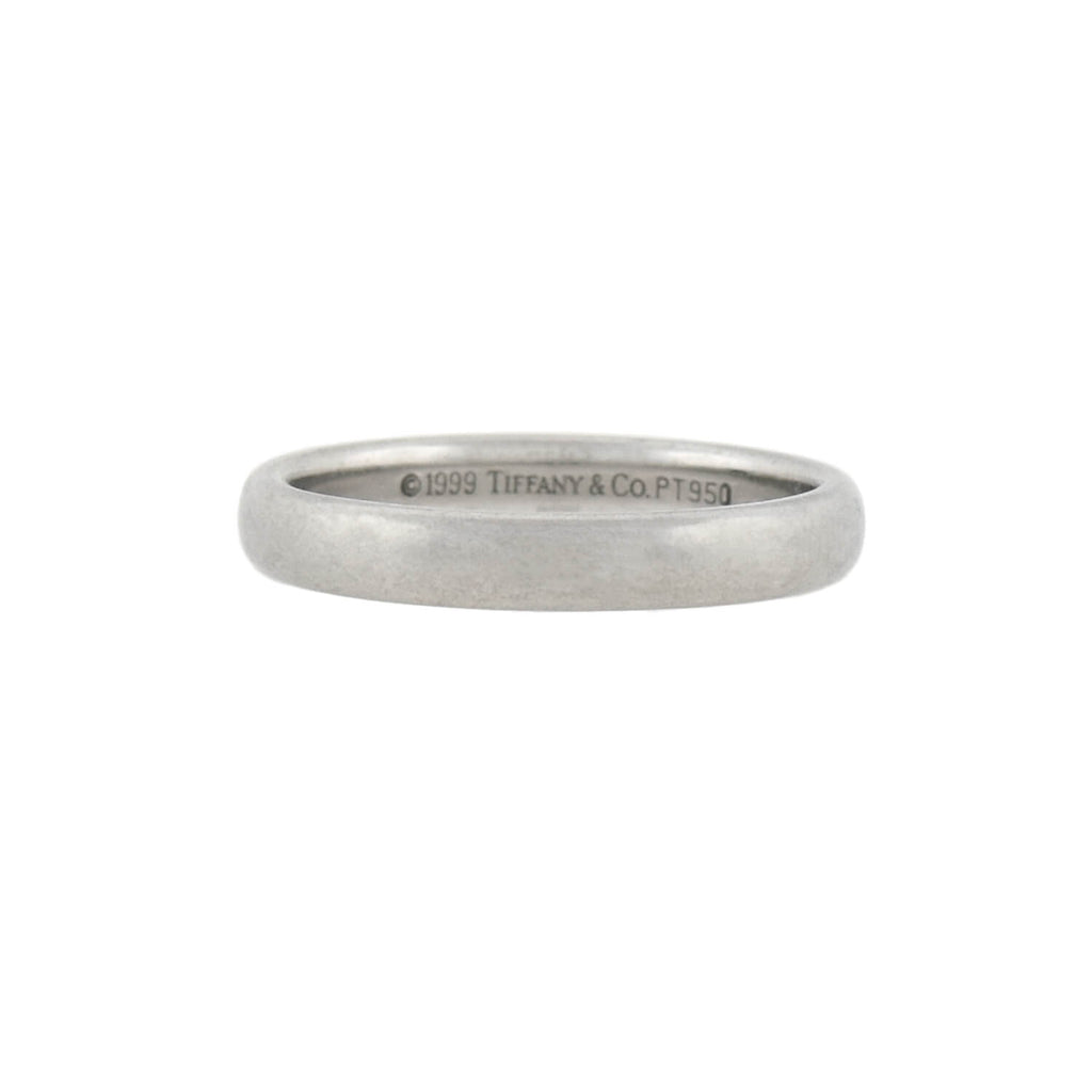 TIFFANY & CO. Vintage Platinum Wedding Band Ring