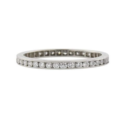 TIFFANY & CO. Estate Platinum Diamond Eternity Band 0.50ctw