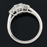 TIFFANY & Co. Platinum 3-Stone Diamond Engagement Ring 2.05ctw