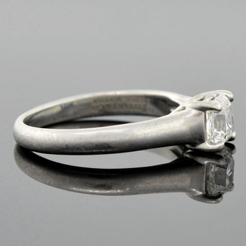 "TIFFANY & CO. Estate Platinum ""Lucida ®"" Diamond Solitaire Ring 0.73ct"