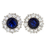 TIFFANY & CO. Burma Natural No-Heat Sapphire & Diamond Earrings
