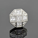 TIFFANY & CO. Estate Platinum Diamond Grid Stud Earrings