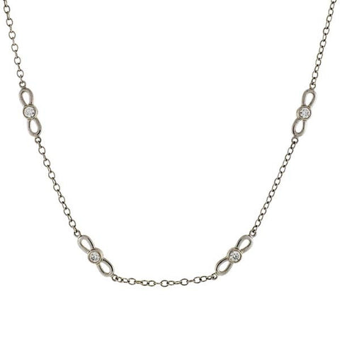 TIFFANY & CO. 18kt Diamond Link Chain Necklace