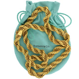 TIFFANY & CO. Heavy Vintage 18kt Twisted Rope Chain Necklace + Convertible Bracelet Set