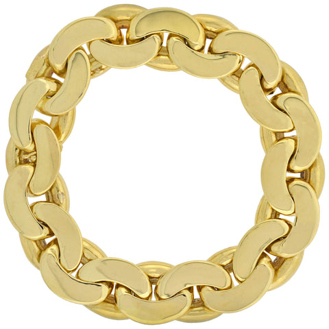 TIFFANY & CO Vintage Reversible 18kt Two-Tone Cuban Link Bracelet 45.7dwt