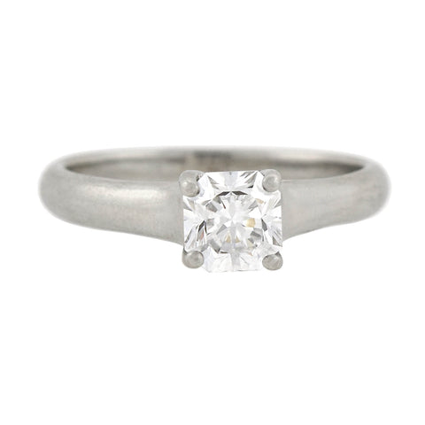 "TIFFANY & CO. Estate Platinum GIA-Certified ""Lucida®"" Diamond Solitaire Ring 0.80ct"
