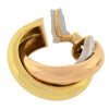 CARTIER Estate 3-Tone Trinity Hoop Clip Earrings