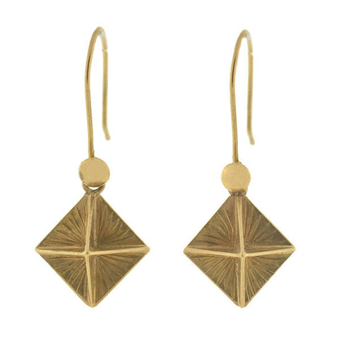 Victorian 9kt Multi-Sided Pyramidal Earrings