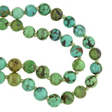 Vintage Turquoise Matrix Graduating Bead Necklace 27.25