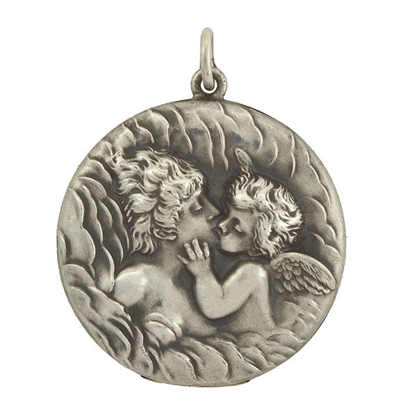 "UNGER BROS. Art Nouveau Sterling Silver ""Love"