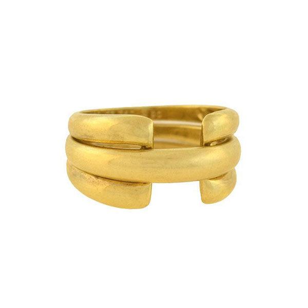 VAN CLEEF & ARPELS French Vintage 18kt Two-Piece Removable Puzzle Ring