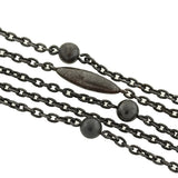 Early Victorian Gunmetal Ball & Bullet Link Chain 63