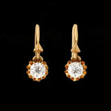 Victorian Petite 14kt Mine Cut Diamond Earrings 0.40ctw