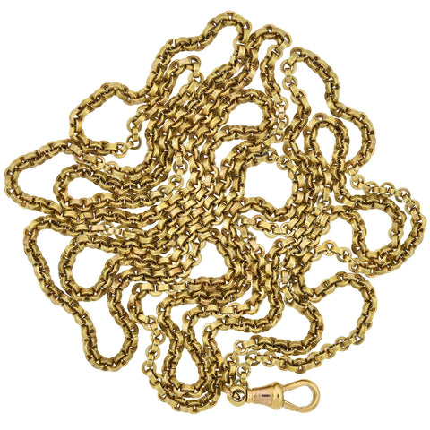 Victorian Pinchbeck Guard Chain Necklace 52""